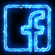 Blue Electric Facebook Icon