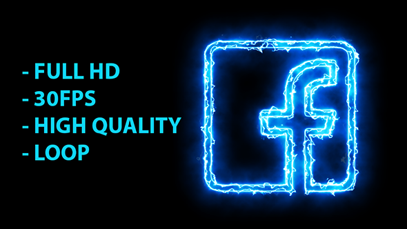 Blue Electric Facebook Icon by Pixinnova | VideoHive