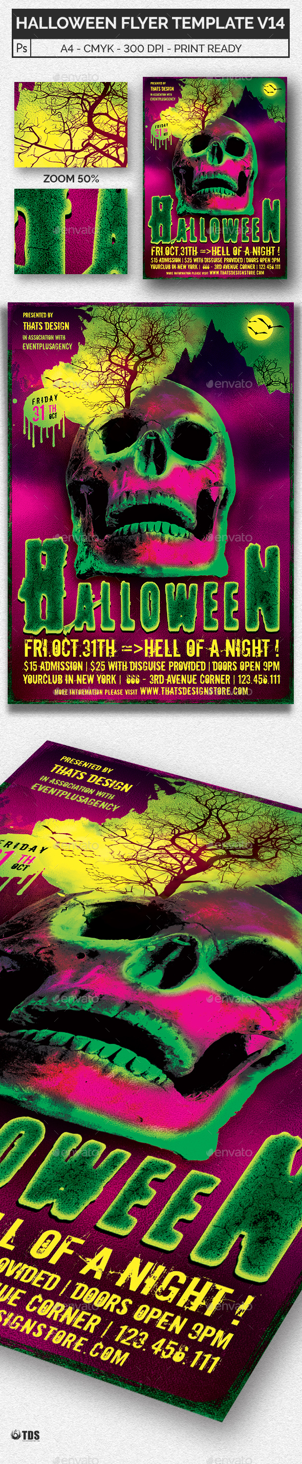 Halloween Flyer Template V14 - Holidays Events