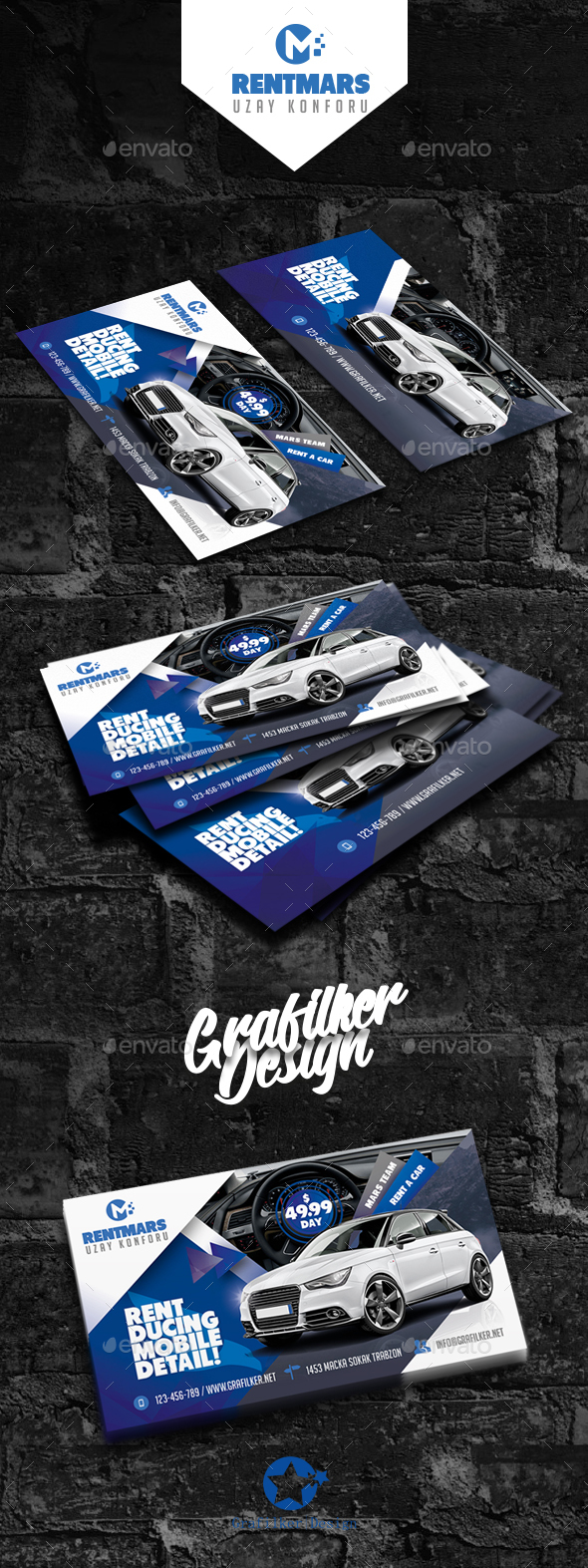 Rent A Car Business Card Templates - Corporate Business Cards