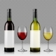 Set of Realistic Vector Illustration of Wine