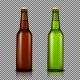 Set of Transparent Bottles