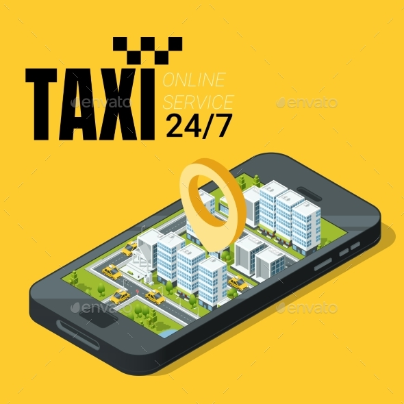 Taxi Service Concept - Industries Business