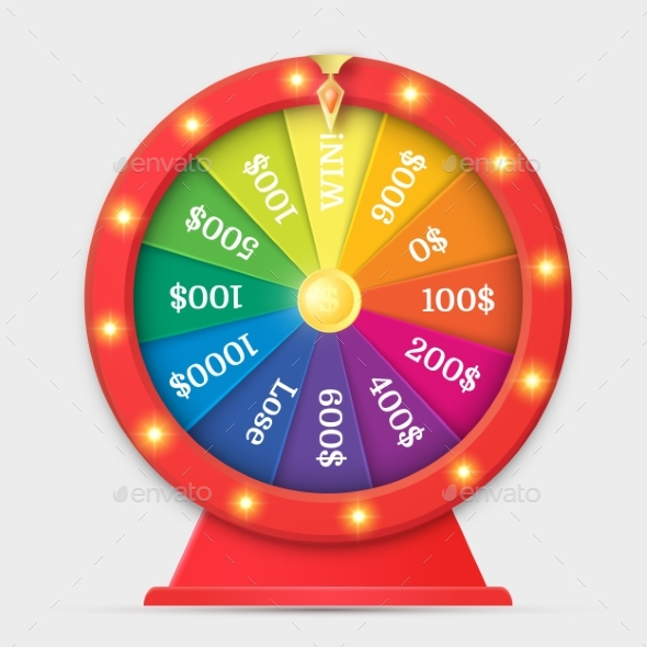 GraphicRiver Wheel of Fortune 3D Object Isolated on White 20427621
