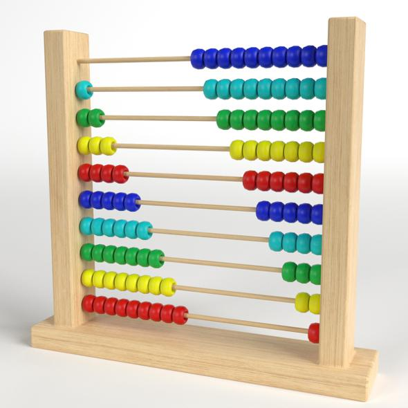Abacus Toy - 3DOcean Item for Sale