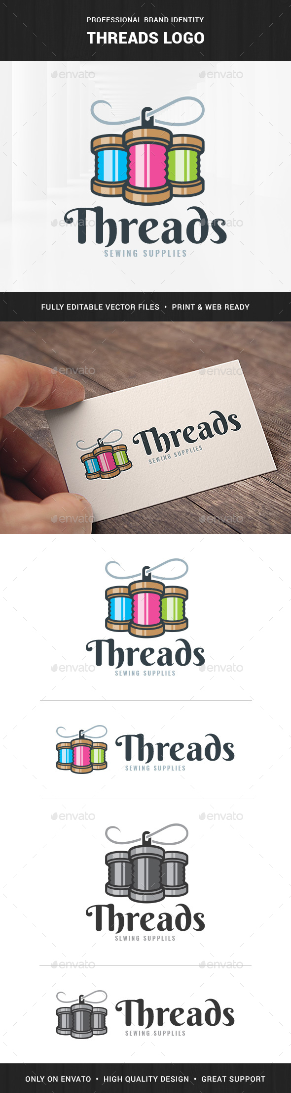Threads Logo Template - Objects Logo Templates
