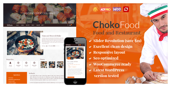 Restaurant | Choko Food and Restaurant Cafe Free Download
