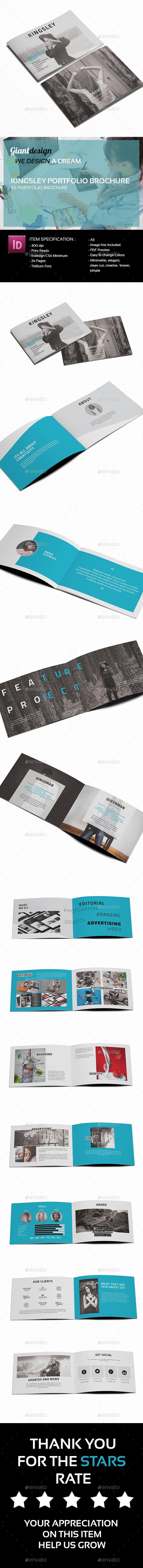 Kingsley A5 Portfolio Brochure - Portfolio Brochures