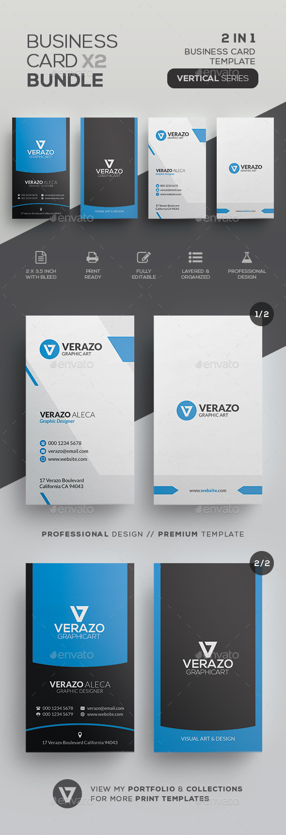 Business Card Bundle 39 - Corporate Business Cards