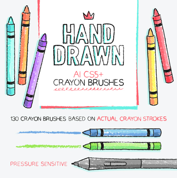 134 AI crayon brushes