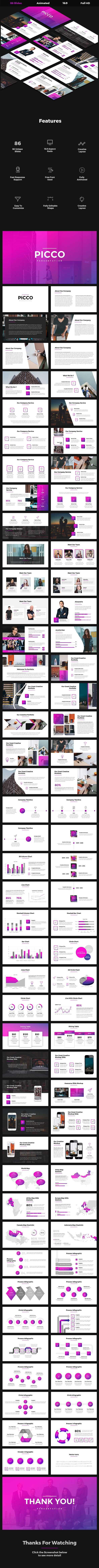 Picco - Creative Google Slides Template - Google Slides Presentation Templates