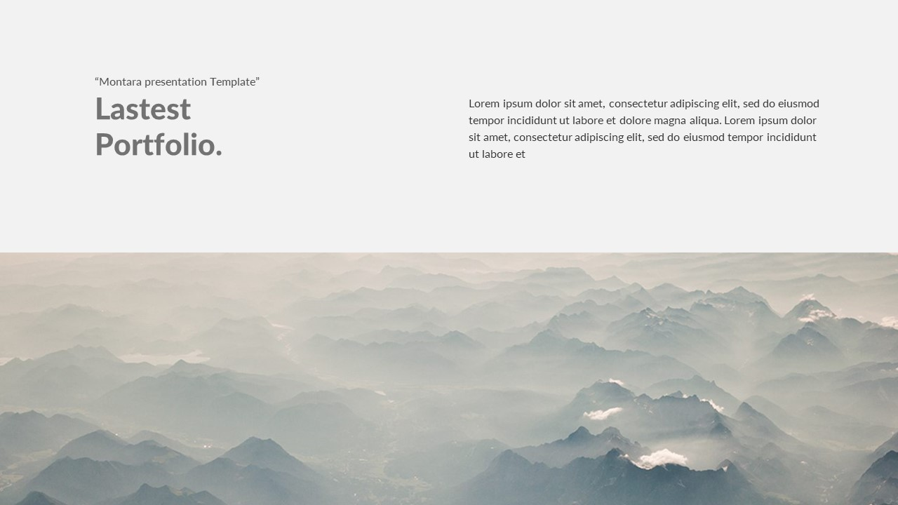 Montora Minimal PowerPoint Template by SphinX_Studio | GraphicRiver