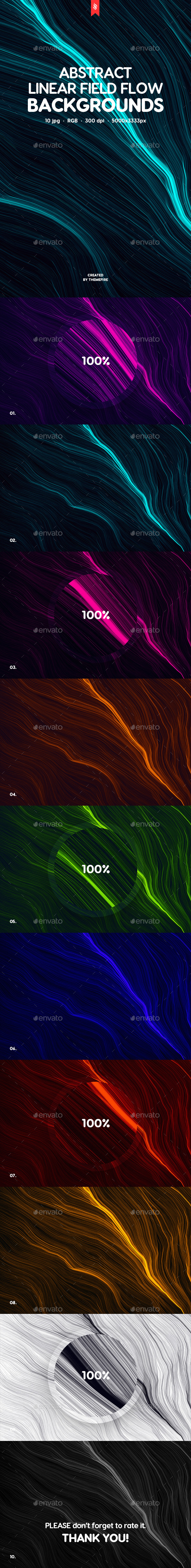 GraphicRiver Neon Field Flow Backgrounds 20428616