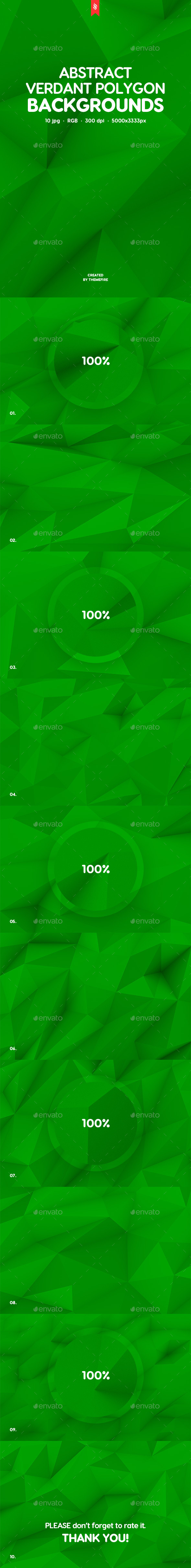 Green Polygon Backgrounds - Patterns Backgrounds