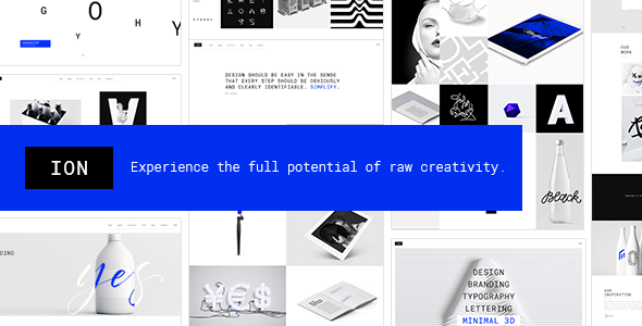 Ion - A Portfolio Theme for Creatives - Portfolio Creative