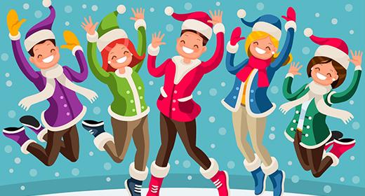 Isometric People Christmas