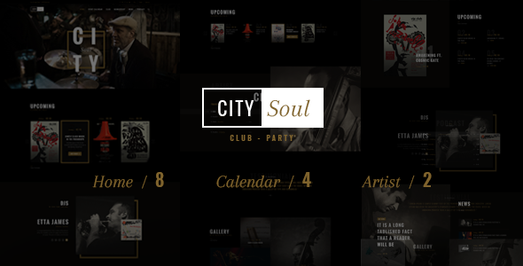 CitySoul Music WordPress Theme - Nightclub Party Bars Lounge - Nightlife Entertainment