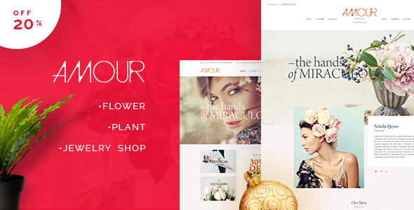 Amour - Shop WordPress theme - Flower - Jewelry - Handmade - Gift