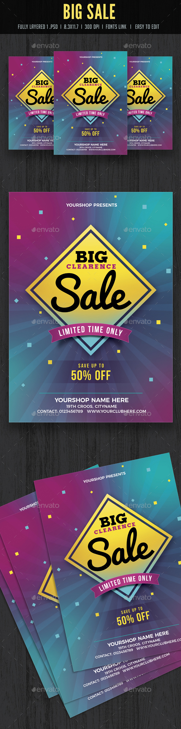 Big Clearance Sale Flyer / Poster - Events Flyers