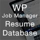 WP Job Manager - Resume Database