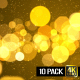 Gold Particle Backgrounds - VideoHive Item for Sale