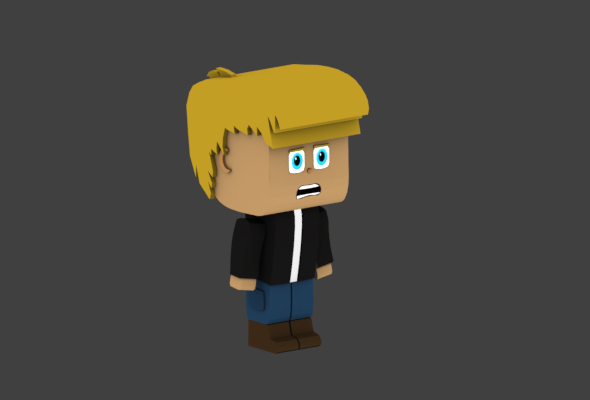 Low Poly Male Character - 3DOcean Item for Sale