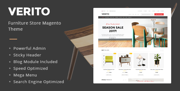 Verito - Furniture Store Magento Theme