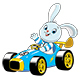 Bunny in a Sport Car - GraphicRiver Item for Sale