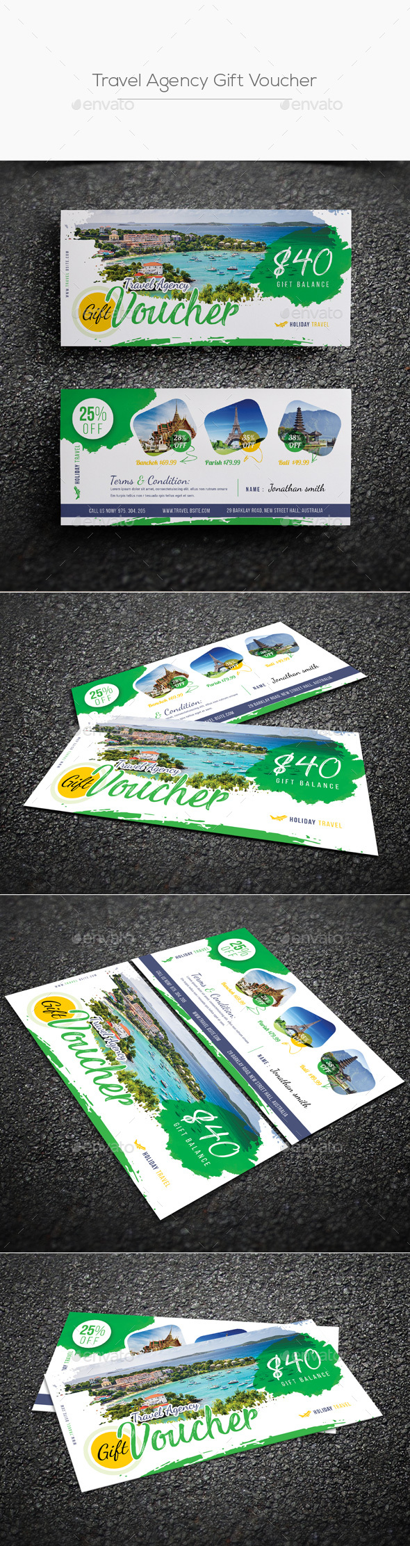 GraphicRiver Travel Agency Gift Voucher 20429712