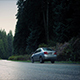Car And Pickup Pass On Forest Road - VideoHive Item for Sale