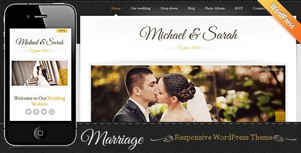 Marriage - Responsive Wedding Wordpress Theme - theme preview screenshot