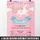 Unicorn Birthday Invitation - GraphicRiver Item for Sale