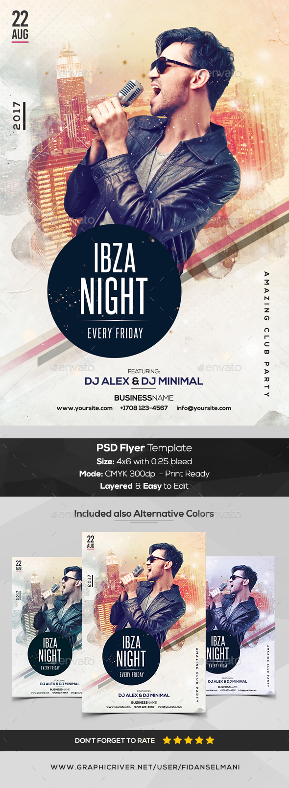 Ibza Night - PSD Flyer Template - Events Flyers
