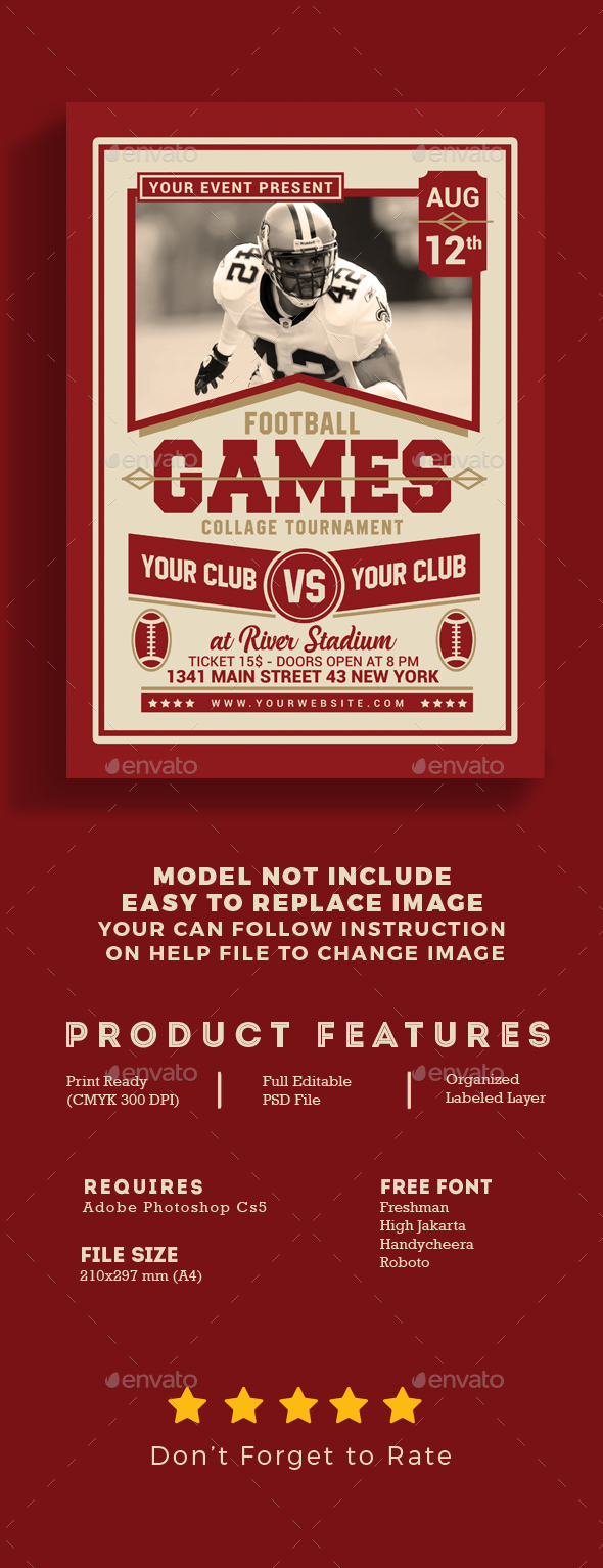GraphicRiver American Football Game Flyer 20419042