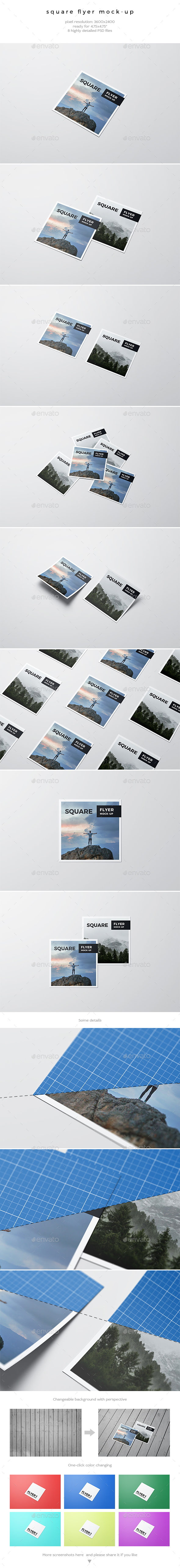 GraphicRiver Square Flyer Mock-Up 20430032