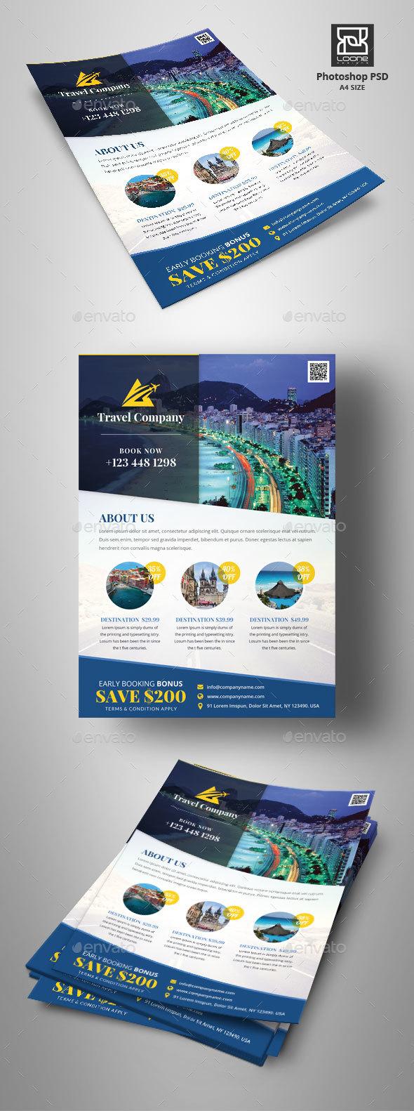 GraphicRiver Travel Flyer 20419009