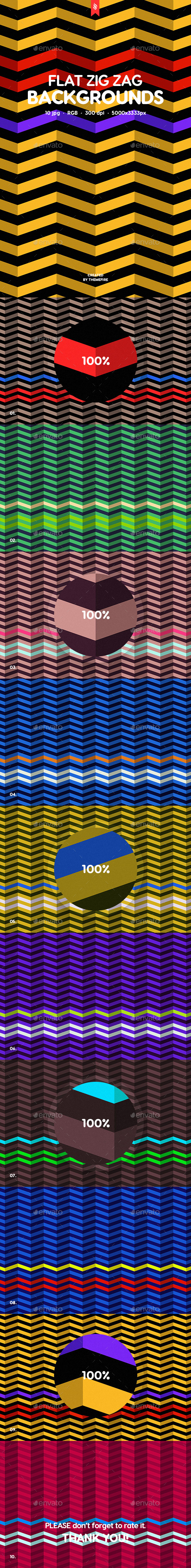 GraphicRiver Flat Zigzag Pattern Backgrounds 20430074