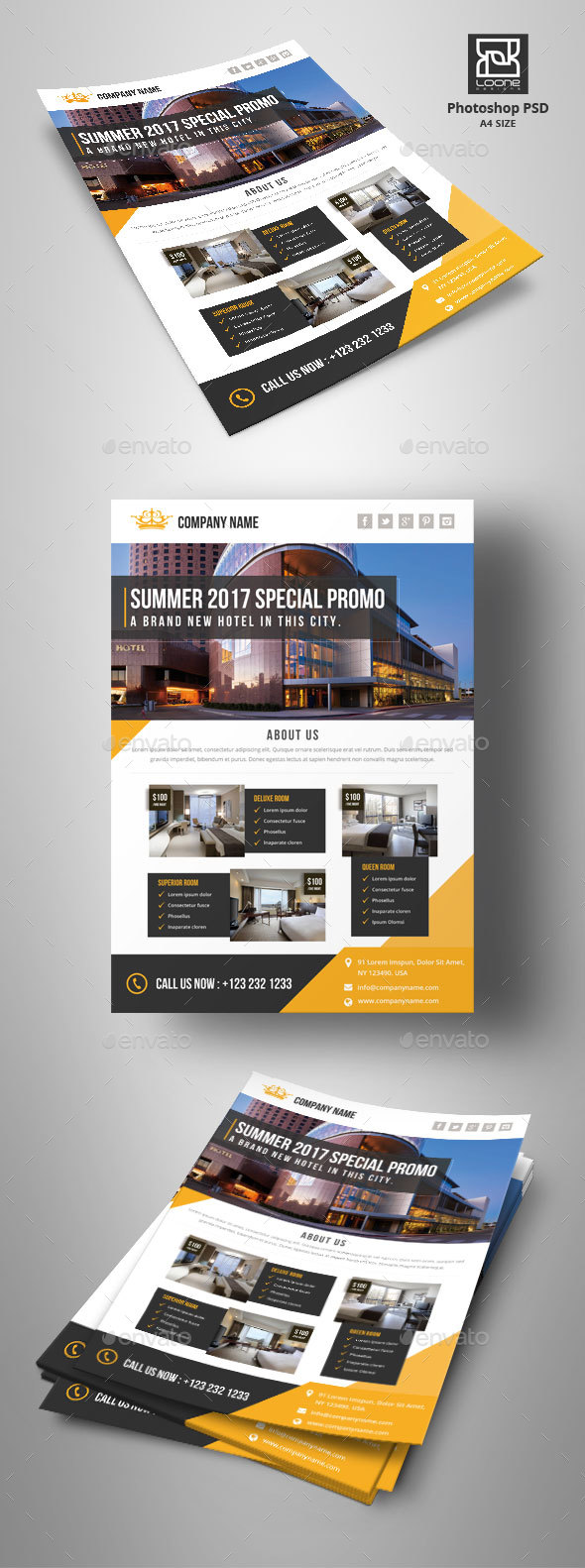 GraphicRiver Hotel Flyer 20430119