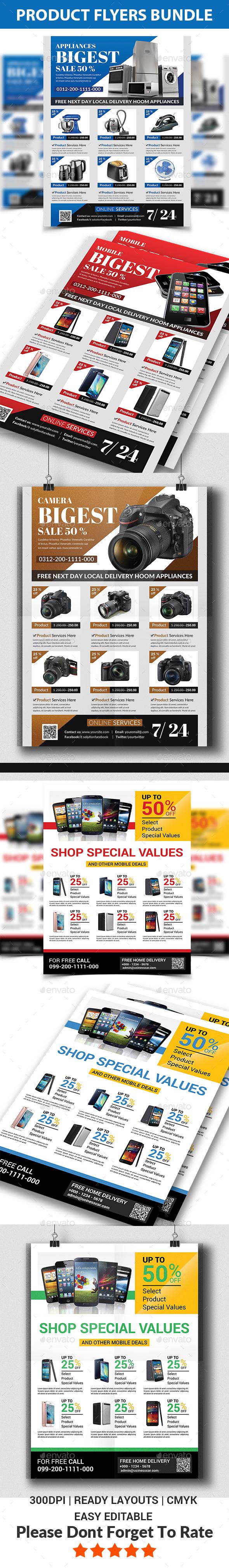 Product Promotion Flyers Bundle - Commerce Flyers