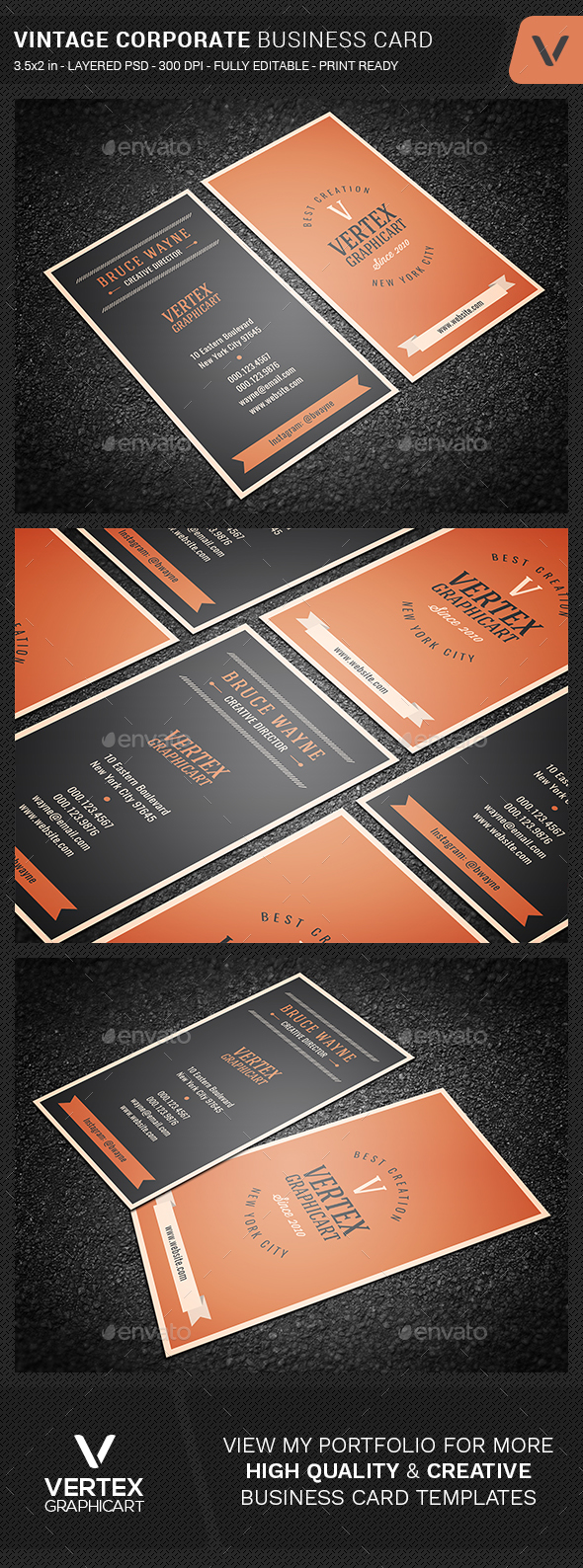 GraphicRiver Vintage Corporate Business Card 20430352