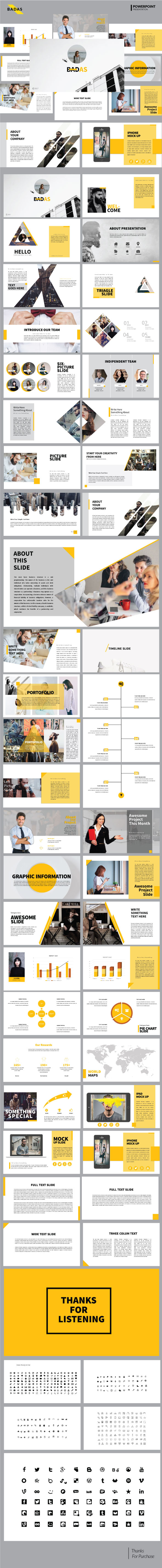 Badas - Creative Multipurpose Presentation Templates - PowerPoint Templates Presentation Templates