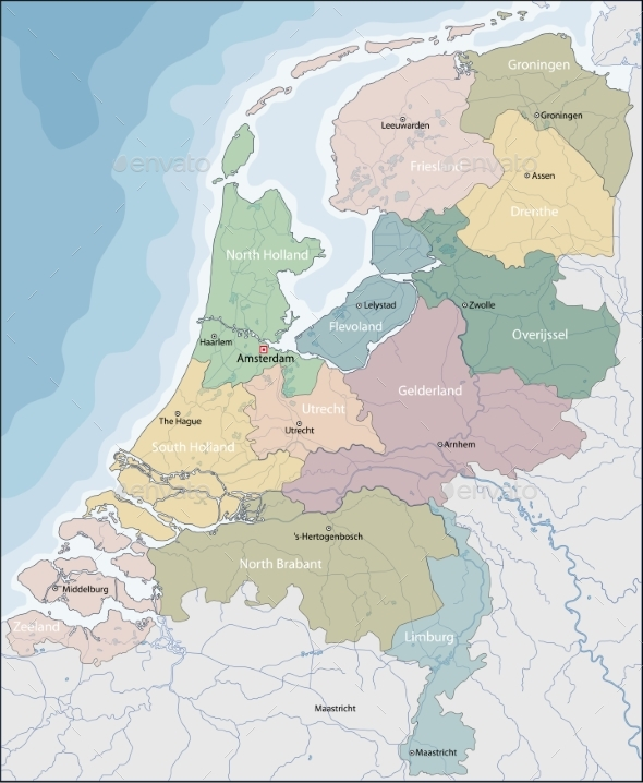 Map of Netherlands - Miscellaneous Vectors