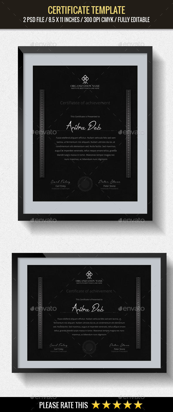 GraphicRiver Multipurpose Certificates Template 20430728
