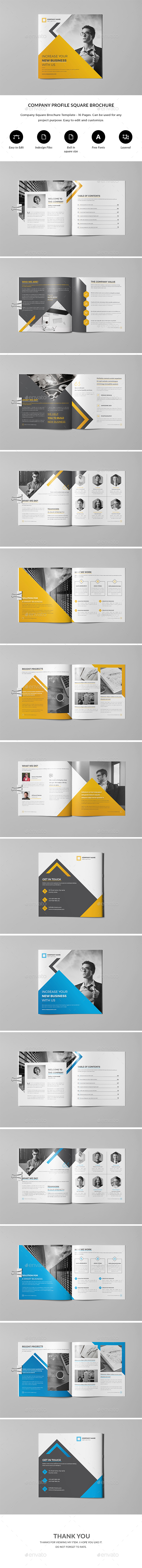 Company Profile - Square - Brochures Print Templates