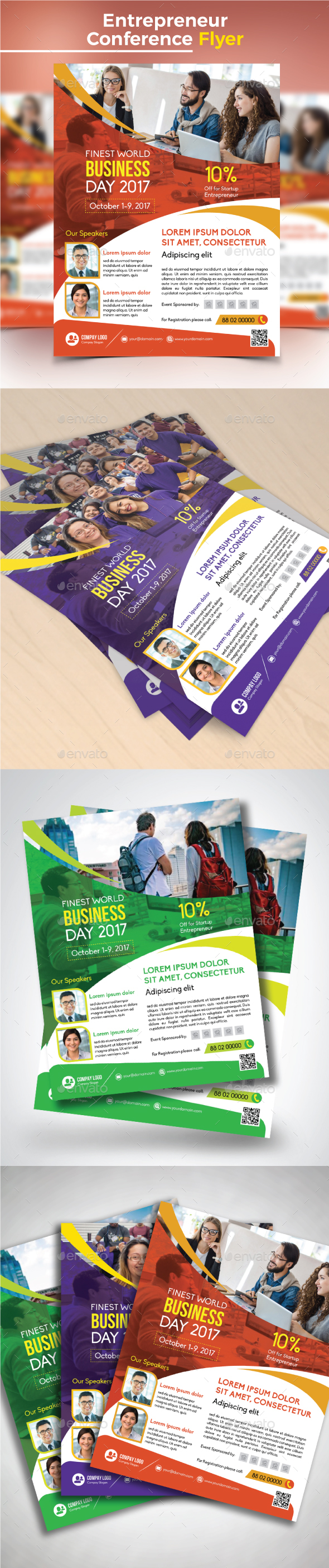 Entrepreneur Conference Flyer - Corporate Flyers