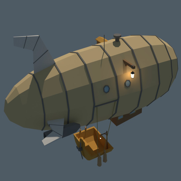 Low Poly Zeppelin - 3DOcean Item for Sale
