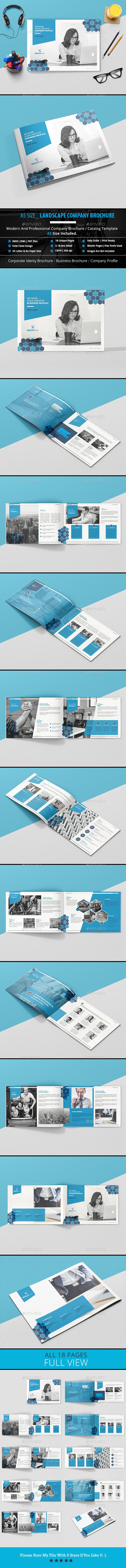 A5 Size_Landscape Brochure - Brochures Print Templates