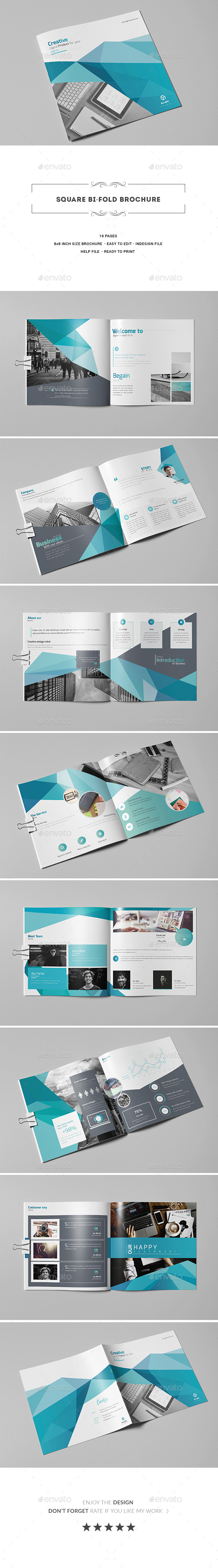 GraphicRiver Square Bi-Fold Brochure 20431030