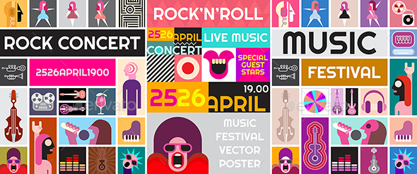 GraphicRiver Rock Concert Vector Poster Design 20431115