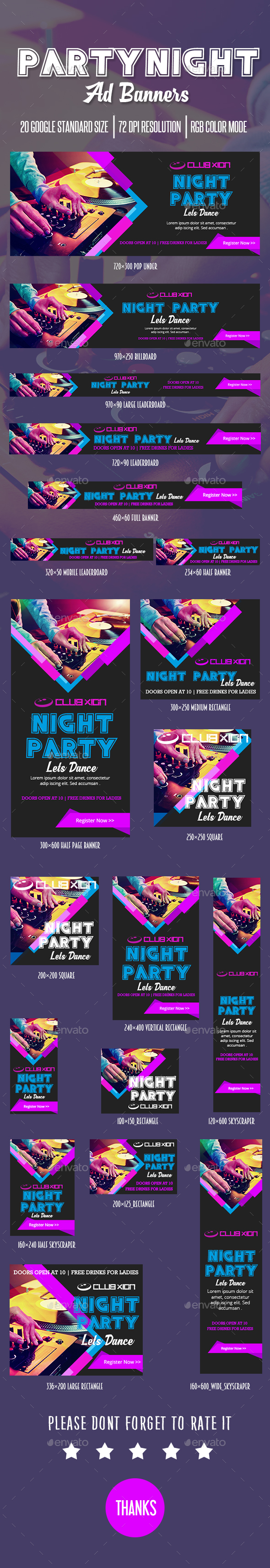 GraphicRiver Party Ad Banner 20431191
